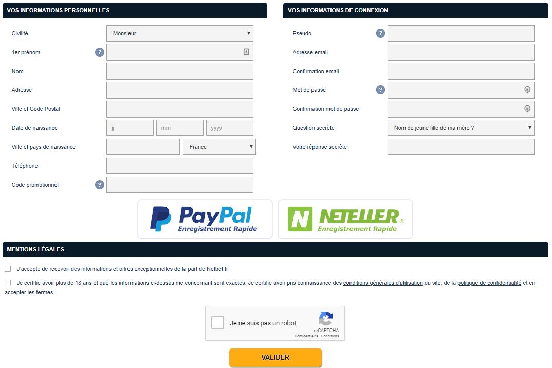 netbet register