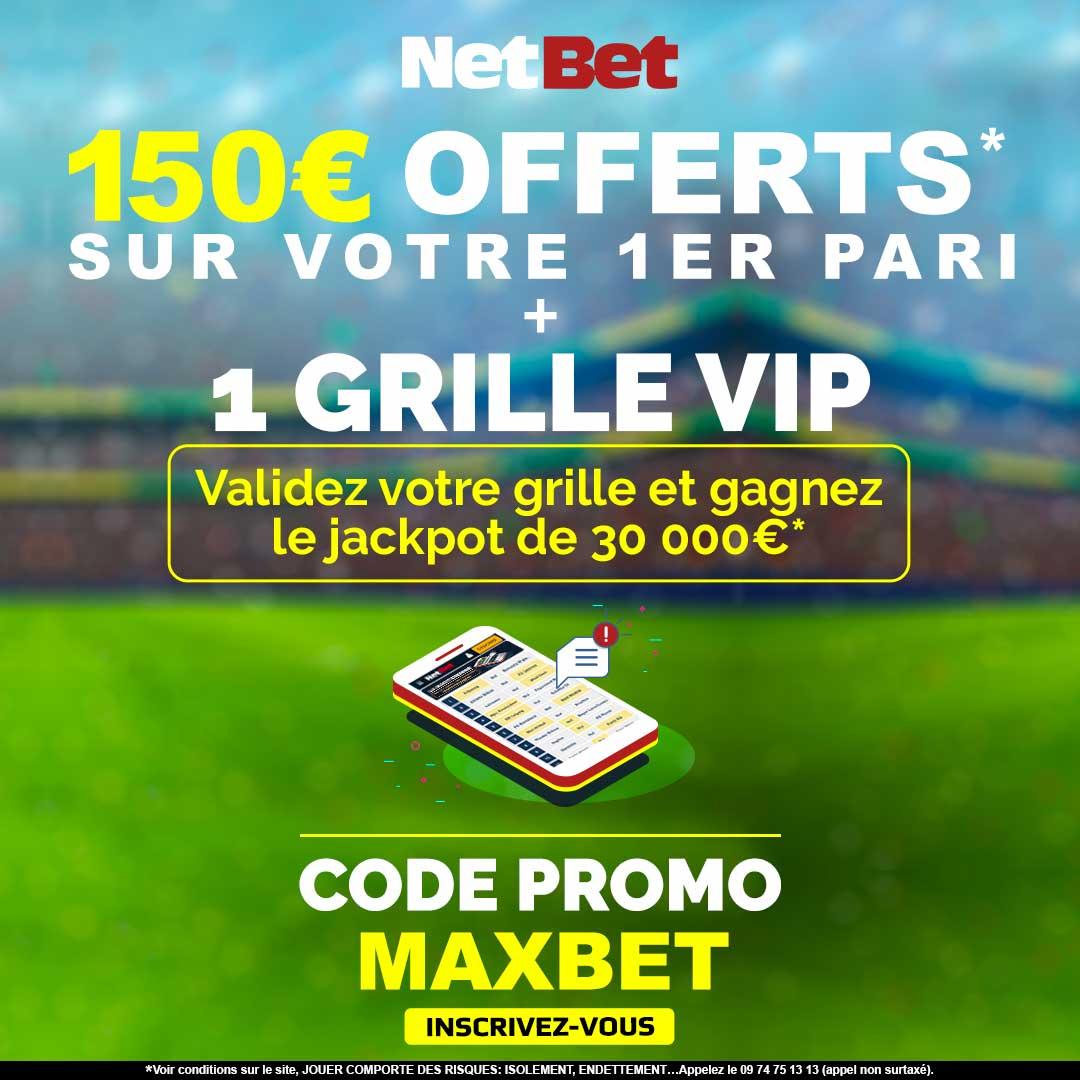Code promo Netbet MAXBET
