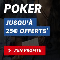 PMU bonus de bienvenue poker